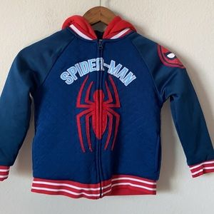Spider-Man Sherpa Lined Hoodie Size 6